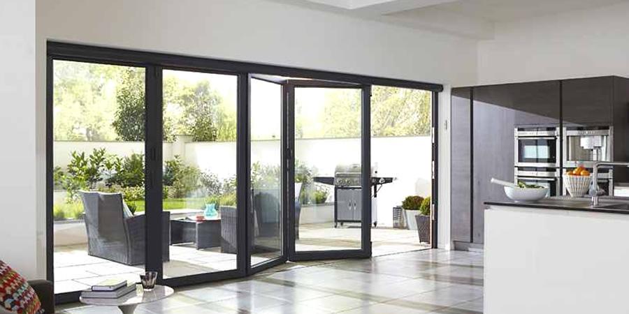 Schüco, Smarts and Warmcore aluminium bi-folding doors from Solihull WDC