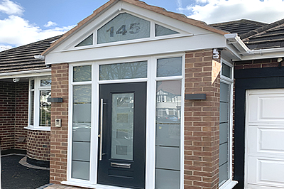 Newbuild and replacement entrance porches from Solihull WDC