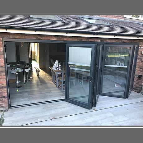 Solihull Aluminium Bi Folding Doors Installation Gallery