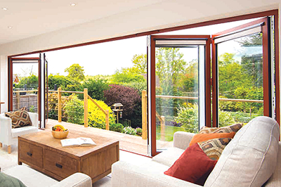 origin aluminium bi-folding doors from Solihull WDC